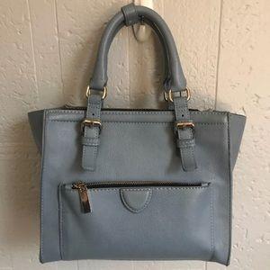 Zara light blue mini city bag